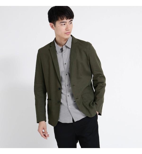 メンズファッションなら|【ティーケー タケオキクチ/tk.TAKEO KIKUCHI】 リネン混ジャケット