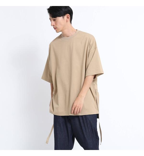 【ティーケー タケオキクチ/tk.TAKEO KIKUCHI】 ストリングスナップスリットBIGTシャツ