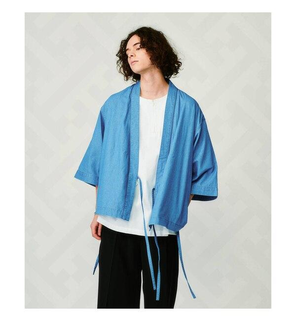 モテ系メンズファッション 【ティーケー タケオキクチ/tk.TAKEO KIKUCHI】 【とうきょう くらしっく】デニムサムエジャケット(5分袖)