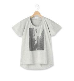 【インデックス/index】 ロゴ刺しゅうフォトプリントTシャツ [3000円(税込)以上で送料無料]