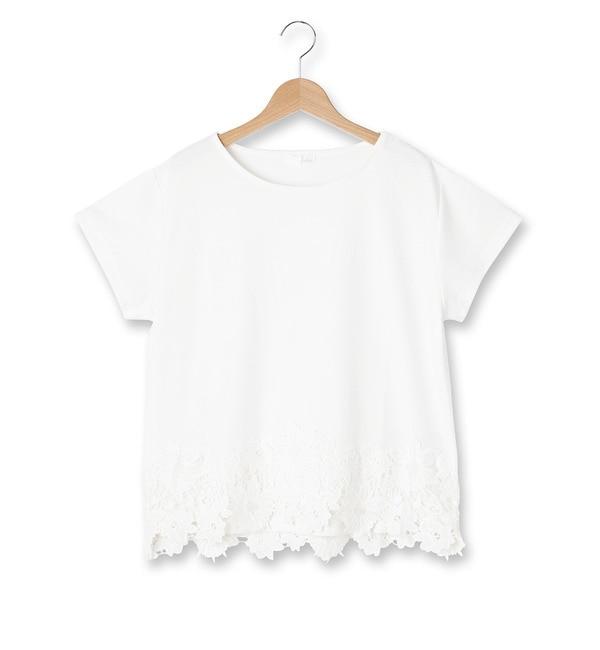 【インデックス/index】 裾レースプルオーバー [3000円(税込)以上で送料無料]