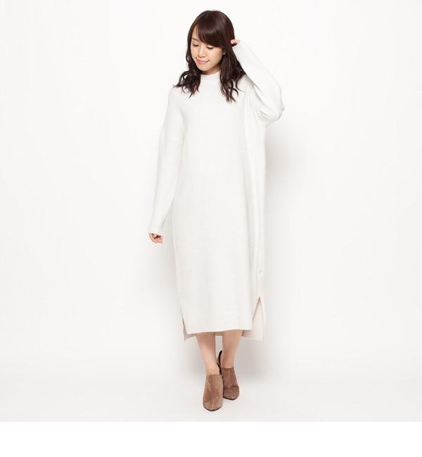 【インデックス/index】 ブークレーロング丈ニットワンピース [送料無料]