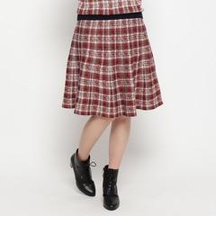 【インデックス/index】 チェックジャカードニットスカート [3000円(税込)以上で送料無料]