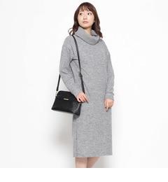 【インデックス/index】 オフタートルロングニットワンピース [送料無料]