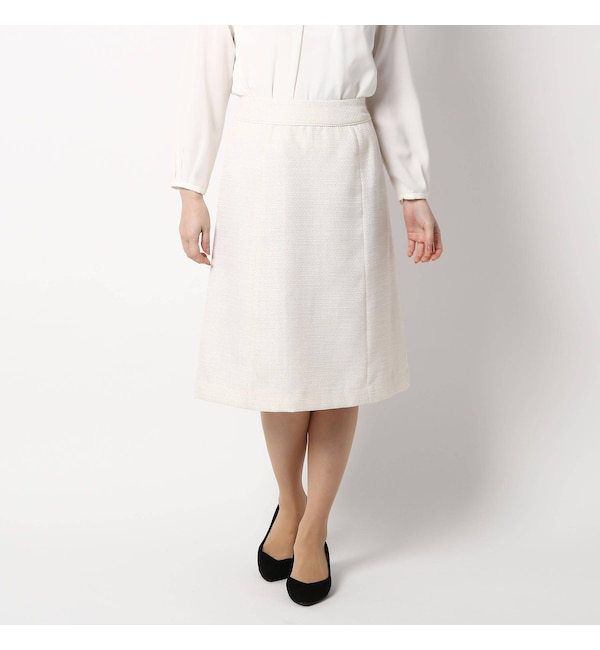 【インデックス/index】 【セレモニー・入卒】【42(LL)WEB限定サイズ】セレモニーツイードAラインスカート