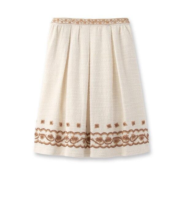 【アナトリエ/anatelier】 moi non plus ビーズ刺しゅう装飾スカート [送料無料]
