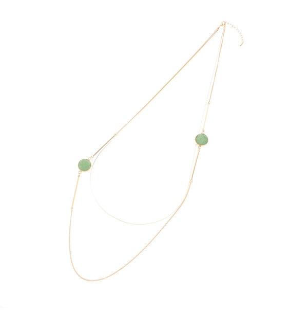 【アナトリエ/anatelier】 天然石バーパーツ2連ネックレス [送料無料]