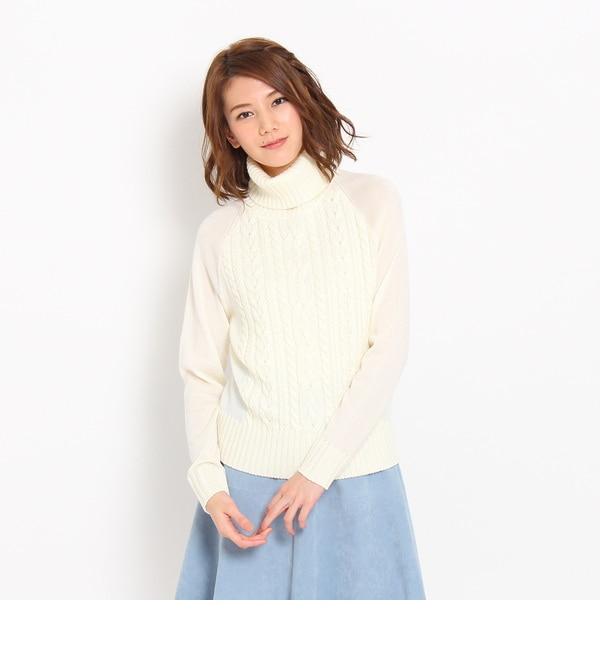 【アナトリエ/anatelier】 タートルネックケーブルニットプルオーバー [送料無料]