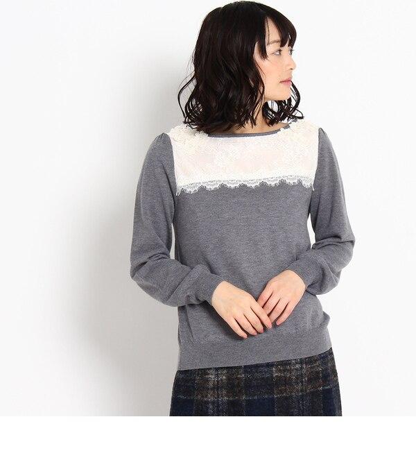 【アナトリエ/anatelier】 ヨークレースニットプルオーバー [送料無料]