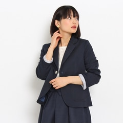 【アナトリエ/anatelier】ビジュー釦ストレッチテーラードジャケット[送料無料]