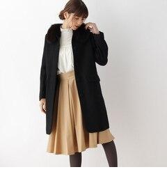 【アナトリエ/anatelier】 【S・Lサイズあり】ファー衿ロングコート [送料無料]