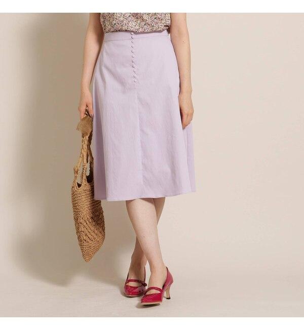 【アナトリエ/anatelier】 【Lサイズあり】プチボタン台形スカート
