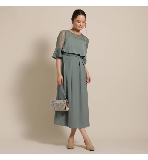 【アナトリエ/anatelier】 Dorry Doll(ドリードール)ヨーク袖レースふらしロングドレス