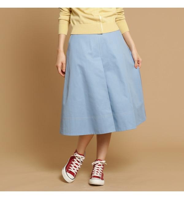 【アナトリエ/anatelier】 高密度ツイルロングボックススカート