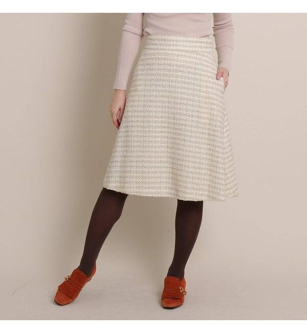 【アナトリエ/anatelier】 【SS-Lサイズあり】ループミックスツイードスカート