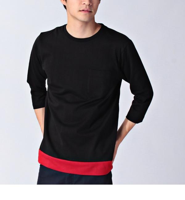 【ベース ステーション/BASE STATION】 裾メッシュ7分Tシャツ [3000円(税込)以上で送料無料]