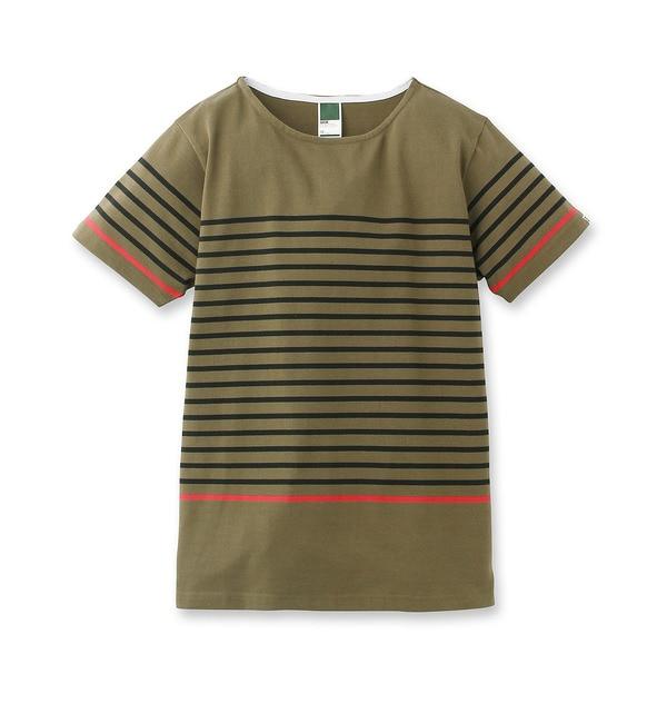 【ベース ステーション/BASE STATION】 パネルボーダーTシャツ [3000円(税込)以上で送料無料]