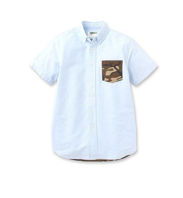 【ベース ステーション/BASE STATION】 OX×リップストック半袖シャツ [送料無料]