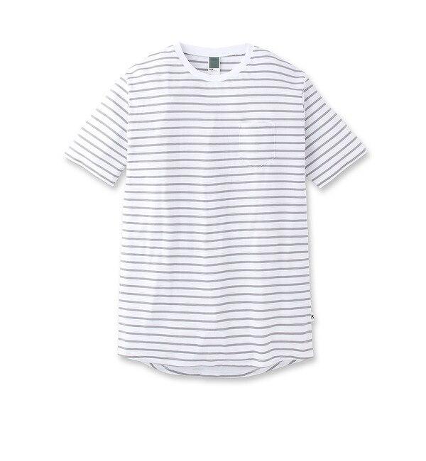 【ベース ステーション/BASE STATION】 21/1ボーダーBIG Tシャツ [3000円(税込)以上で送料無料]