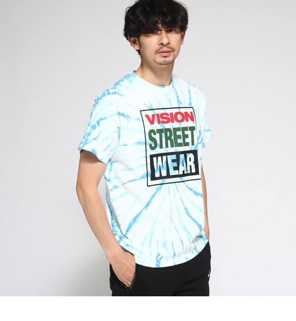 【ベース ステーション/BASE STATION】 Tシャツ メンズ VISION/ビジョン別注 タイダイTシャツ