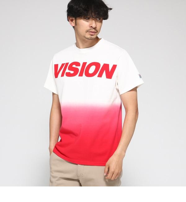 【ベース ステーション/BASE STATION】 Tシャツ メンズ VISION/ビジョン別注グラデーションTシャツ