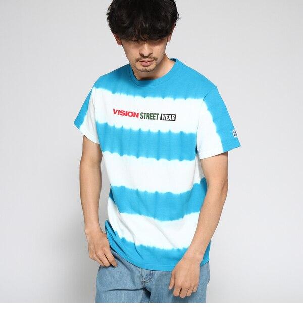 【ベース ステーション/BASE STATION】 Tシャツ メンズ VISION/ビジョン別注 ボーダータイダイT
