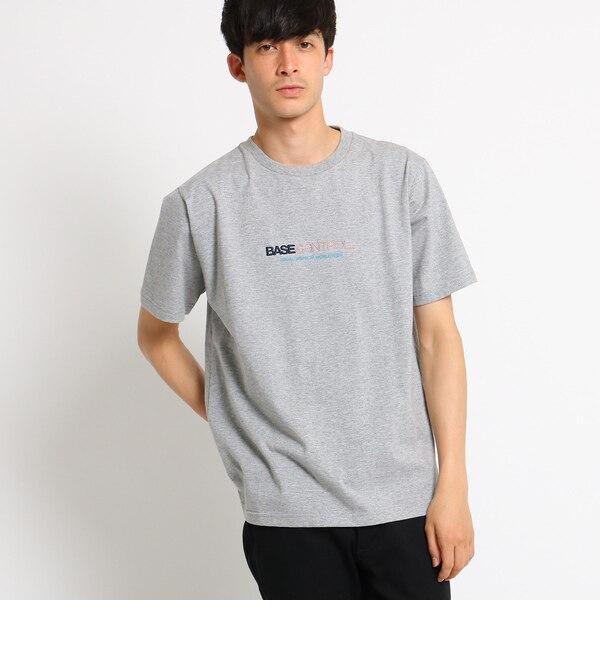 【ベース ステーション/BASE STATION】 Tシャツ メンズ 胸ロゴ刺繍 [3000円(税込)以上で送料無料]