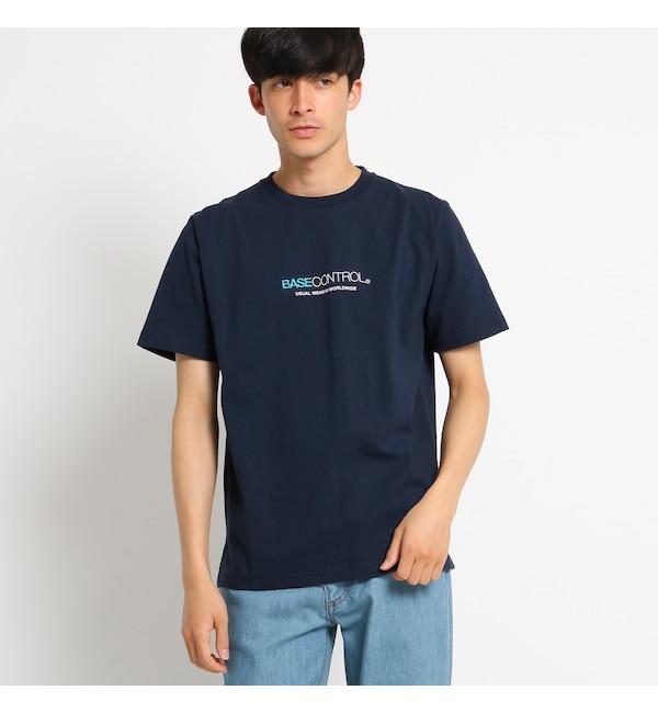 【ベース ステーション/BASE STATION】 Tシャツ メンズ 胸ロゴ刺繍