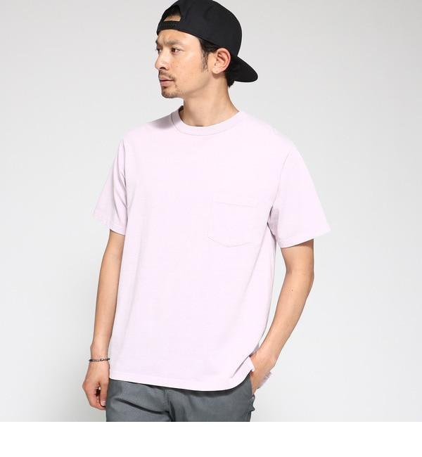 【ベース ステーション/BASE STATION】 Tシャツ メンズ 製品染め クルーネックTシャツ