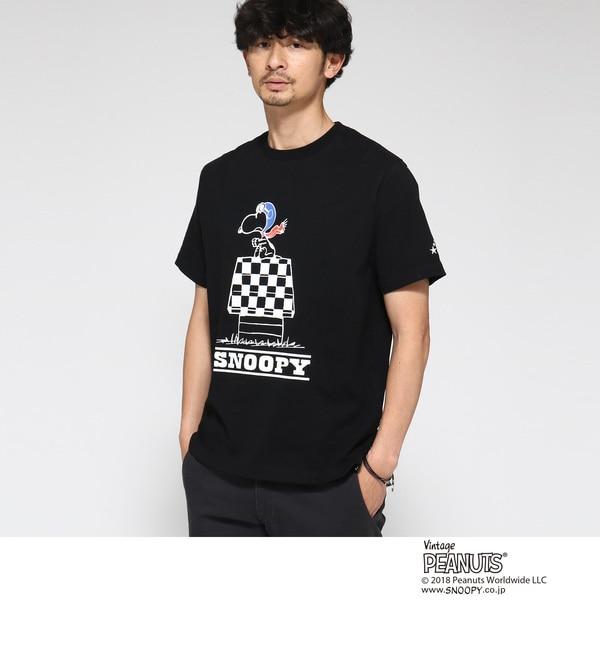 【ベース ステーション/BASE STATION】 Tシャツ ピーナッツ別注 スヌーピー SNOOPY HOUSE [送料無料]
