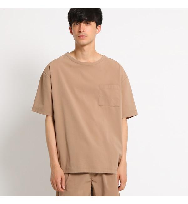 【ベース ステーション/BASE STATION】 Tシャツ メンズ シアサッカーTシャツ ビッグシルエット