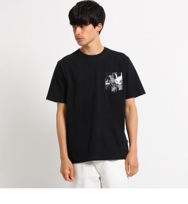 【ベース ステーション/BASE STATION】 Tシャツ メンズ ポケット スプラッシュプリント クルーネック [3000円(税込)以上で送料無料]