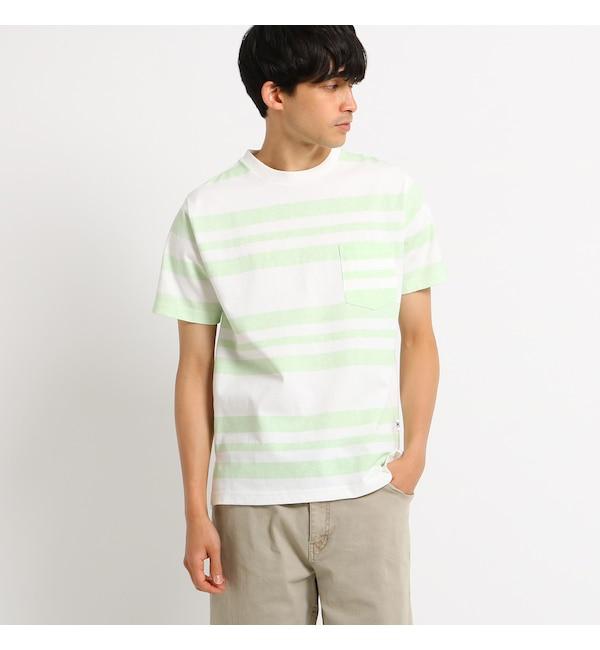【ベース ステーション/BASE STATION】 Tシャツ メンズ ボーダー クルーネック