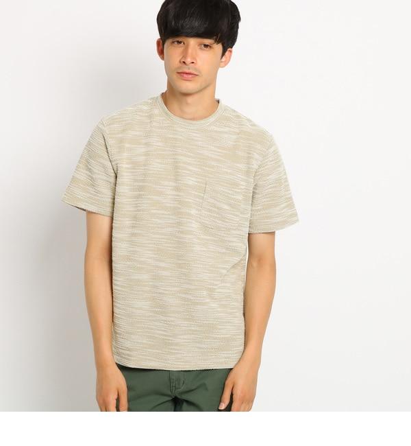 【ベース ステーション/BASE STATION】 Tシャツ メンズ YZ スラブジャガード