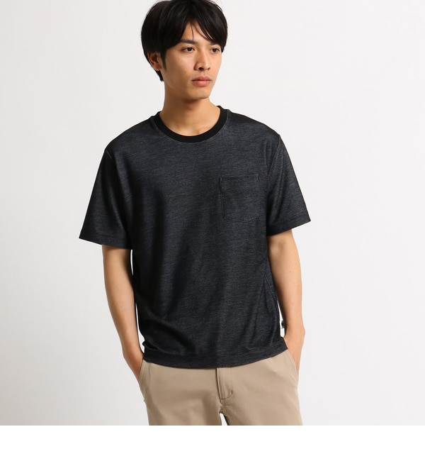 【ベース ステーション/BASE STATION】 Tシャツ メンズ クルーネック デニムライク [3000円(税込)以上で送料無料]