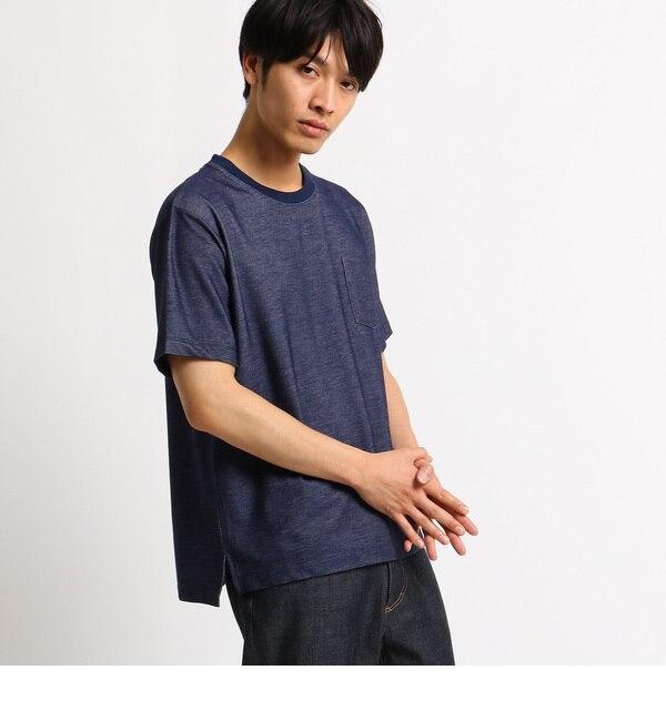 【ベース ステーション/BASE STATION】 Tシャツ メンズ クルーネック デニムライク