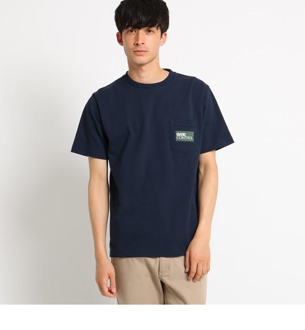 【ベース ステーション/BASE STATION】 Tシャツ メンズ 胸ポケット刺繍 クラシックロゴTシャツ