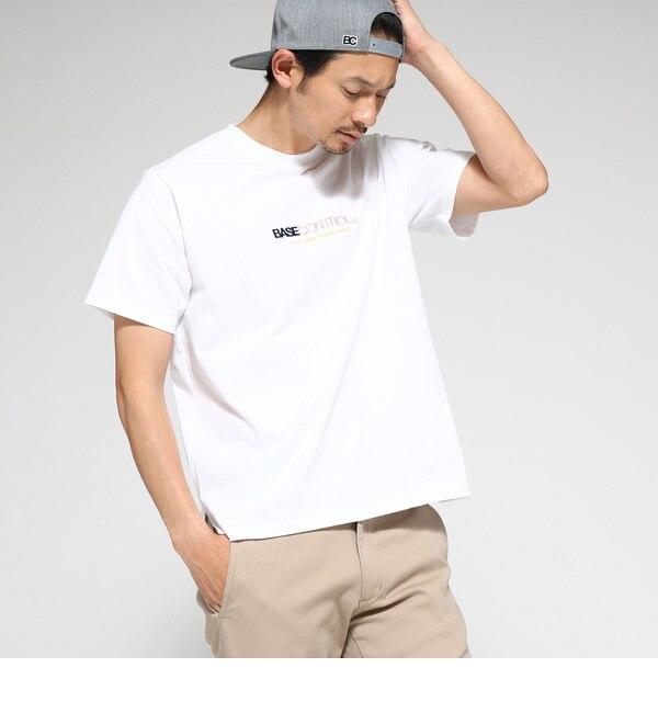 【ベース ステーション/BASE STATION】 Tシャツ メンズ 胸ロゴ刺繍 【WEB限定】