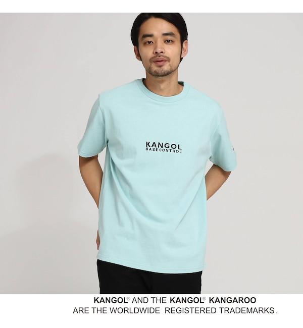 【ベース ステーション/BASE STATION】 KANGOL カンゴール 別注 コラボ Tシャツ メンズ 胸刺繍 半袖Tシャツ