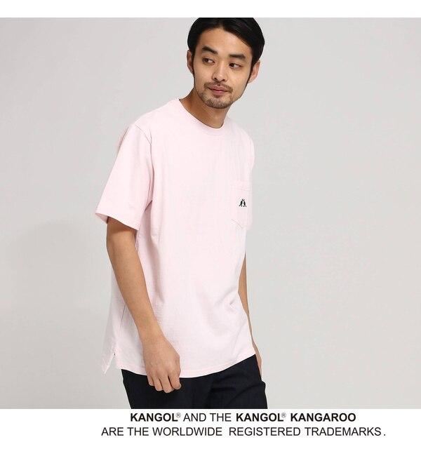 【ベース ステーション/BASE STATION】 KANGOL カンゴール 別注 コラボ Tシャツ メンズ ポケット 半袖Tシャツ