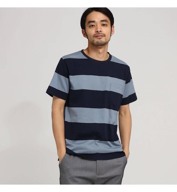 【ベース ステーション/BASE STATION】 Tシャツ メンズ ボーダー OhCool 太ボーダー半袖T