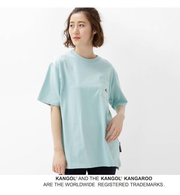 【ベース ステーション/BASE STATION】 【WEB限定】 コラボ 別注 KANGOL ポケット Tシャツ
