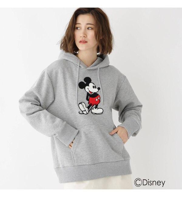 【ベース ステーション/BASE STATION】 DISNEY ディズニー ミッキーマウス サガラ 刺繍 パーカー