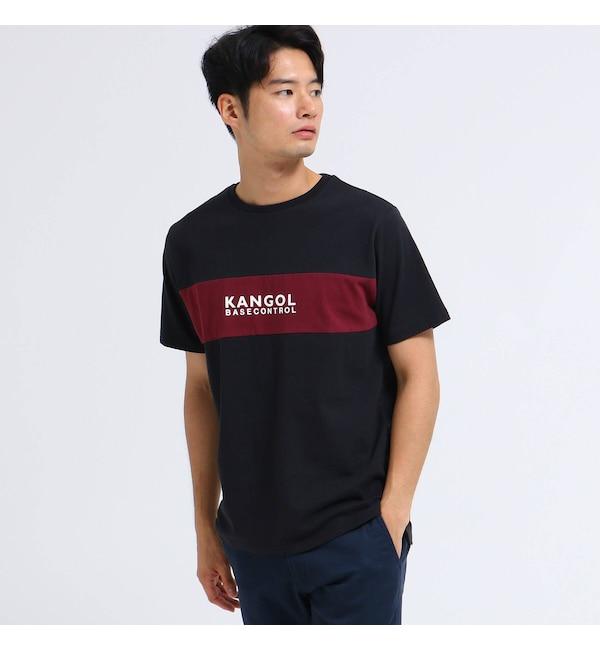【ベース ステーション/BASE STATION】 KANGOL カンゴール 別注 クルーネック ロゴ 刺繍 Tシャツ