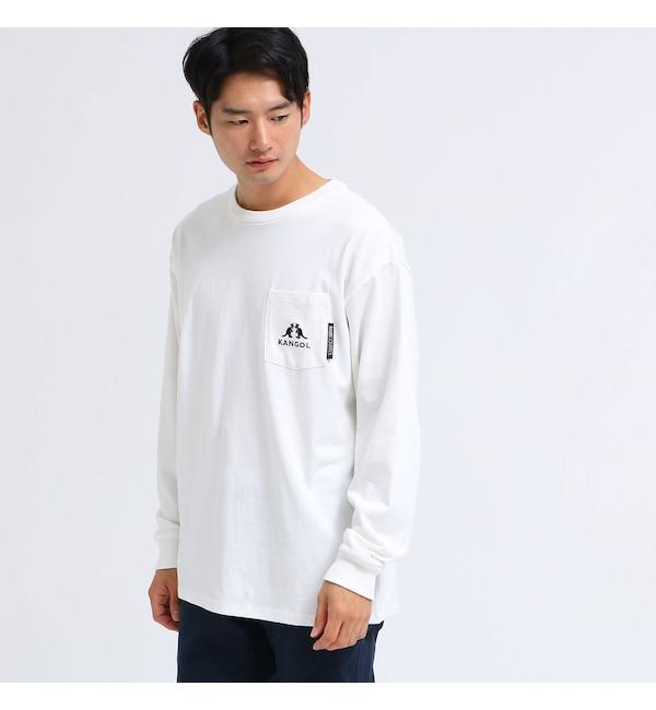 【ベース ステーション/BASE STATION】 KANGOL カンゴール 別注 ビッグ 長袖 ポケット Tシャツ