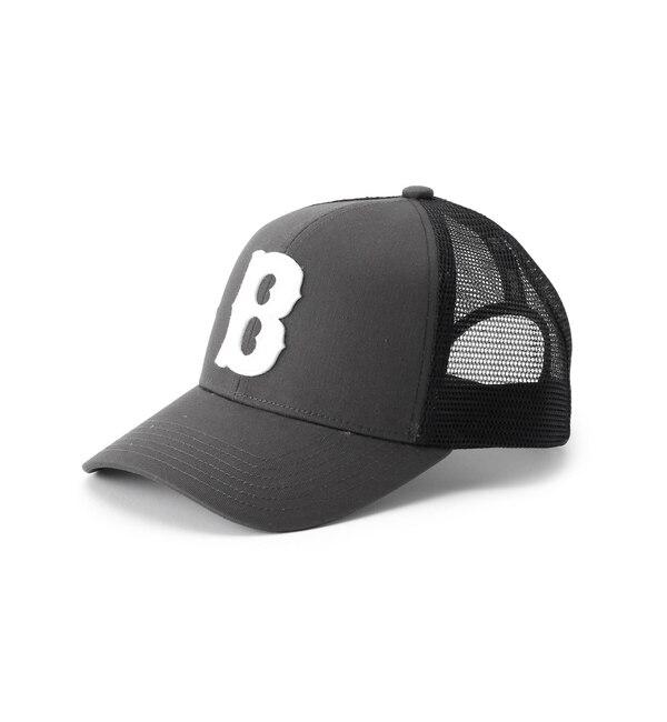 【ベース ステーション/BASE STATION】 B ロゴ CAP メッシュキャップ