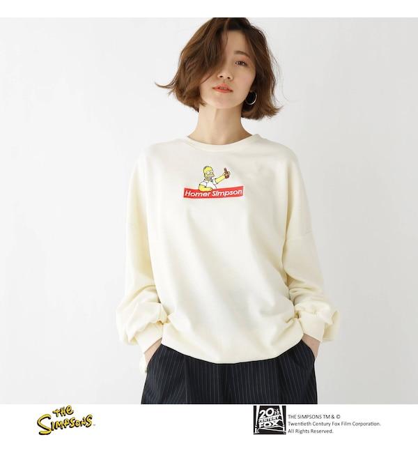 【ベース ステーション/BASE STATION】 The Simpsons(ザ・シンプソンズ) BOX ロゴ スウェット