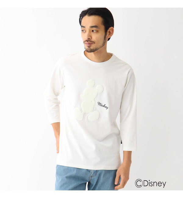 【ベース ステーション/BASE STATION】 DISNEY ディズニー ミッキーマウス/七分 Tシャツ