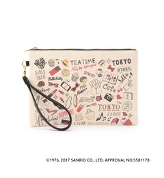 <アイルミネ> AG バイアクアガール厳選 TOKYOOTONAKITTY キャンバスイラストクラッチバッグ [3000円(税込)以上で送料無料]画像