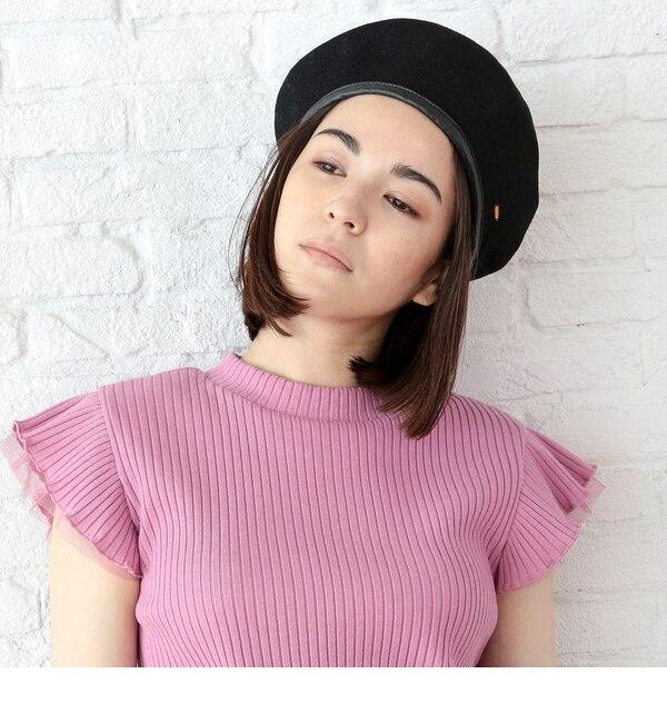 【AG バイアクアガール/AG by aquagirl】 パイピングニットベレー帽 [3000円(税込)以上で送料無料]